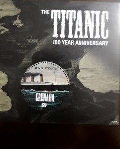 U) 2012, GRENADA, 100 ANNIVERSARY OF THE TITANIC II, PERFORATED