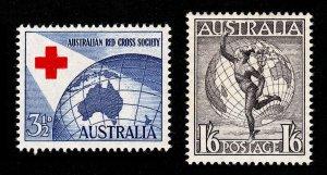AUSTRALIA SCOTT #271 AND #C6 MNH-OG