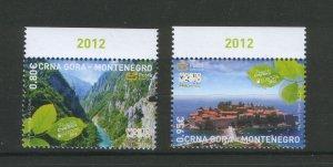 MONTENEGRO-MNH** SET EUROPA CEPT-2012.