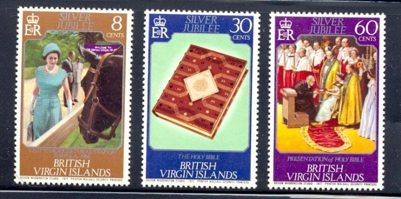 Virgin Islands MNH 317-9 Silver Jubilee QE II 1977