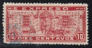 Dominican Republic 1927 10c Special Delivery 'E Expreso' Error Used. Scott E3a