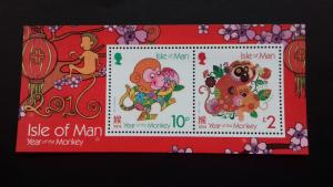 Isle of Man 2016 Chinese New Year - Year of the Monkey Mint