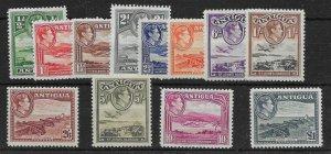 ANTIGUA SG98/109 1938-51 DEFINITIVE SET MTD MINT