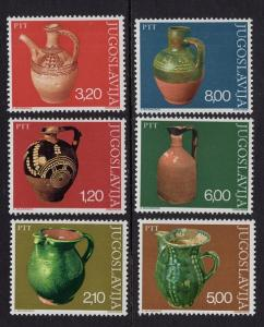 Yugoslavia   #1302-1307 MNH 1976 ancient pottery   water pitchers