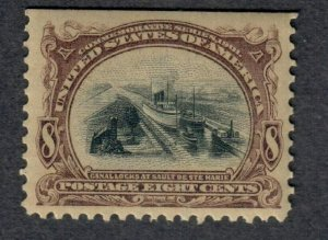 $US Sc#298 M/NH/VF, natural straight edge, Cv. $230