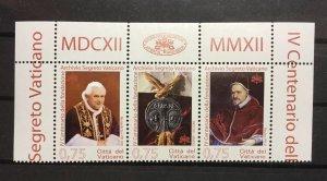 Vatican City Sc# 1506 MNH Strip of 3 Issue 2012 Pope Benedict XVI