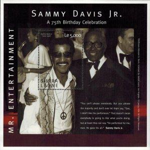 Sierra Leone MNH S/S Sammy Davis Jr. 75th Birthday Mr. Entertainment