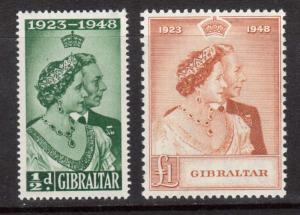 Gibraltar #121 - #122 VF/NH Set