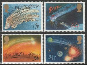 GB 1986 Halley's Comet MNH SG#1312-1315 S1086