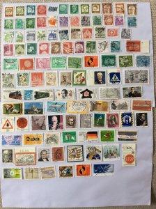 German 100+ stamps - Lot F
