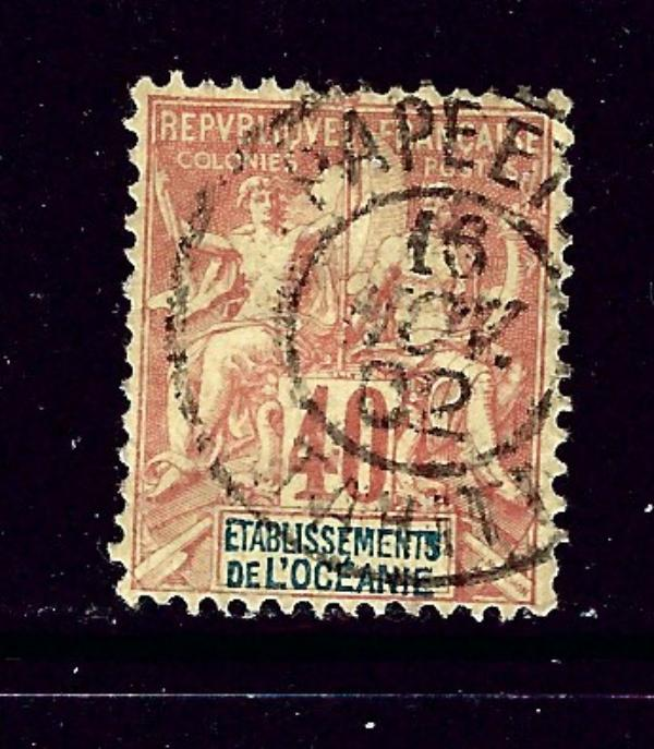 French Polynesia 15 Used 1892 issue