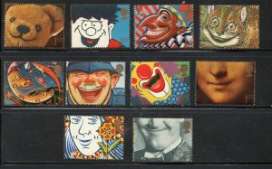 Great Britain Sc 1364-73 1991 Smiles 1st stamp set mint NH