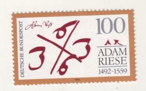 J10957 JL Stamps 1992 germany set of 1 #1748 adam riese