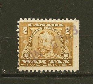 Canada FWT8 King George V War Tax Used