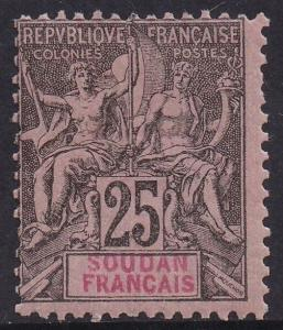 FRENCH SUDAN 1894 PEACE & COMMERCE 25C