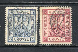 Poland Pzedborz Stamps Mi 1-2 VF Used