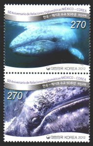 South Korea. 2012. 2855-56. Whales, fauna. MNH.