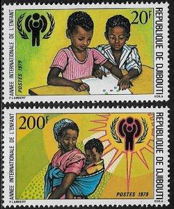 Djibouti #489-90 MNH Set - Year of the Child