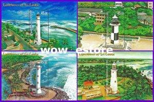 Sri lanka stamps - Lighthouses of Sri Lanka 2018- Four Miniature Sheets