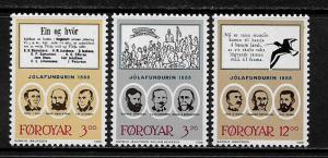 Faroe Is #179-81 MNH Set - Illustrations