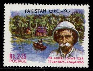 PAKISTAN QEII SG383, 1975 2r 25 birth of Dr Albert Schweitzer, NH MINT.