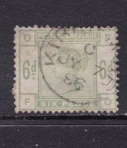 Great Britain a used QV 6d from 1883