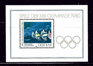 Germany (DDR) 2121 MNH 1980 Olympics S/S