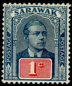 SARAWAK SG50, 1c slate-blue & red, LH MINT.
