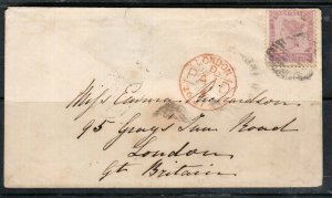 Prince Edward Island #8 Used On Cover To Great Britain **With Certificate**