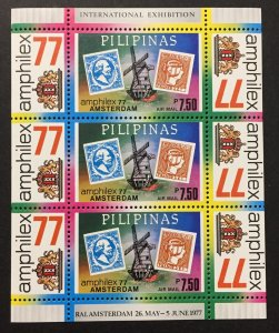 Philippines 1977 #C109 S/S, Amphilex '77, MNH.