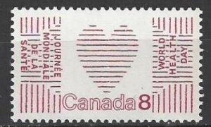 Canada  560  MNH  WHO  Heart Health 1972