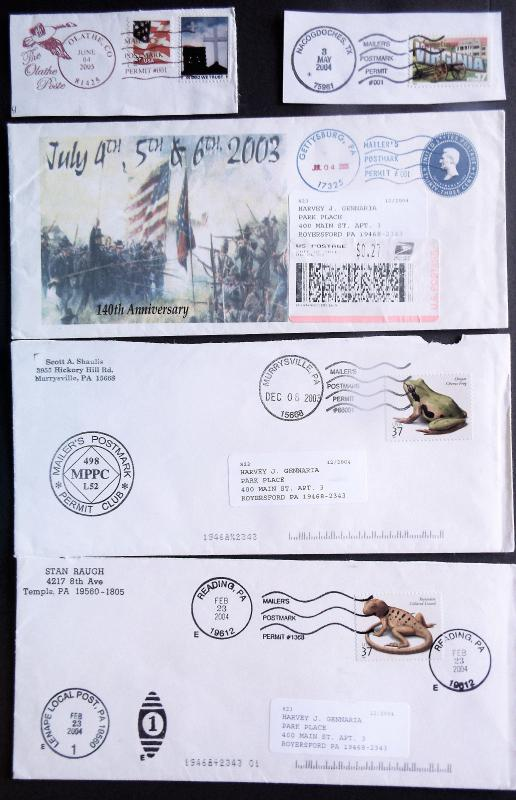 US Mailer's Postmark Permit Covers & Piece