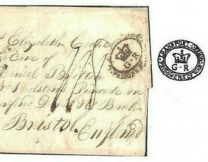 NAPOLEONIC WARS France 1813 Cover GB *TRANSPORT.. PRISONERS OR WAR* Bristol POW