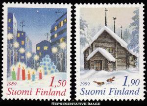 Finland Scott 808-809 Mint never hinged.