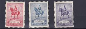 AUSTRALIA  1935  S G 156 - 158   SILVER JUBILEE  SET    MH