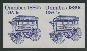 #1897b 1c OMNIBUS IMPERF PAIR ERROR SCARCE (XF NH) BU8534 JN