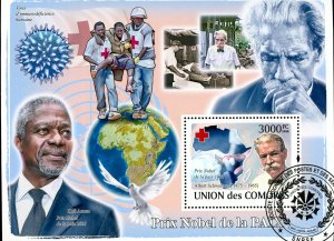 Comoro Islands Stamps Sc#1062- (2008) - S/Sheet - Nobel peace prize Recipient...