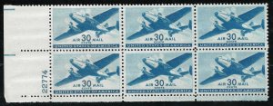 Doyle's_Stamps: MNH Scott #C30** PNB+2 WWII Era 30c Airmails