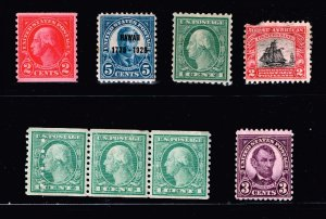US STAMP 1920 -30 MINT STAMPS COLLECTION LOT #W2