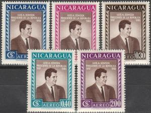 Nicaragua #C387-91 MNH F-VF (SU1989L)