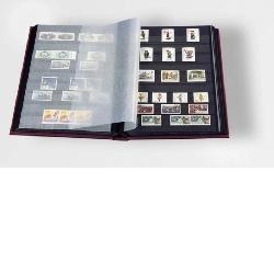 Lighthouse Stockbook Blue, 32 Black Pages, 01326