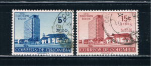 Colombia 638 and C273 Used Set Hotel Tequendama (C0105)