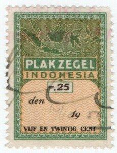 (I.B) Indonesia Revenue : General Duty 25c (Plakzegel)