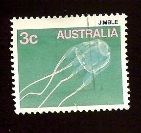 Australia #903 3c Jimble, Jellyfish used-hr