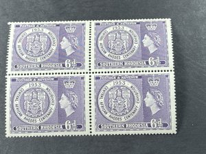 SOUTHERN RHODESIA # 79-MINT/NEVER HINGED---BLOCK OF 4---1953