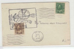 CANADA KGV 2cts COIL AND 3cts ADMIRALS ON COVER EDMONTO TO FORT FITZGERALD CV$65