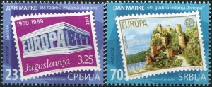 "Serbia. 2016. 60 years of the ""Europa"" edition (MNH OG) Set of 2 stamps"