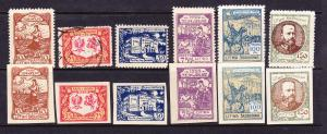 CENTRAL LITHUANIA  1921    SETS 6  PERF & IMPERF M&U  SG 42/47
