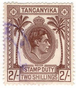(I.B) KUT Revenue : Tanganyika Stamp Duty 2/-
