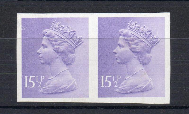 151/2p MACHIN IMPERFORATE PAIR